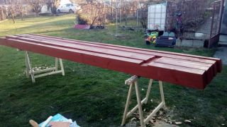 (07) Březen - Příprava střesních trámů úložné boudy pro 1. stanoviště