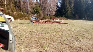 (10) Březen - Stavba úložné boudy pro 1. stanoviště (1.den stavby)